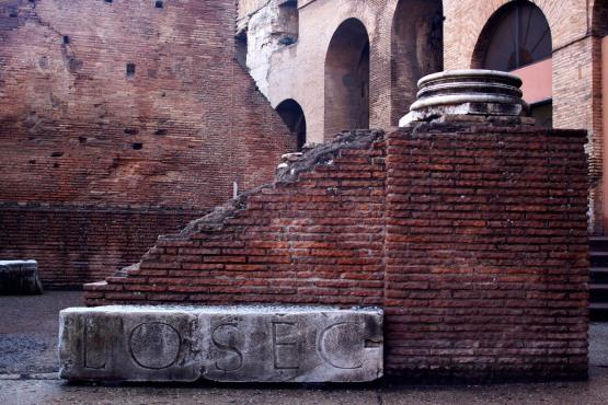 Coliseum interior. Rome, Italy (2013)
