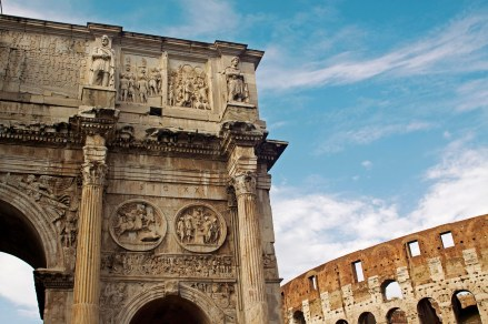 Arch of Constantine and The Coliseum. Rome, Italy. (2013)