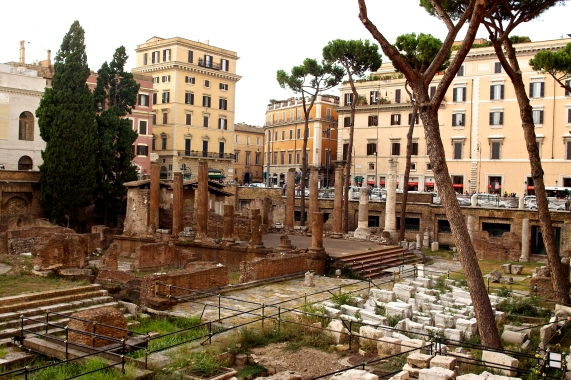 Largo di Torre Argentina, the site of the Caesar's assassination in the Theatre of Pompey. Rome, Italy (2013)