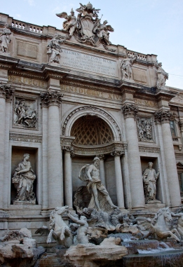 Detail of the Trevi Fountain. Rome, Italy. (2103)