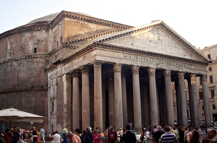 The Pantheon, built in 126 A.D. Rome, Italy. (2013)