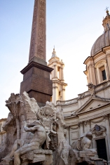 Bernini's Fountain of the Four Rivers in Piazza Novana. Rome, Italy. (2013)
