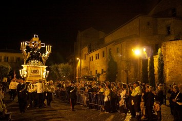 An evening mass was held in Tuscania during the tribute to St. Mary. Tuscania, Italy. (2013)