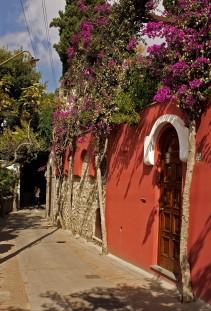 A neighborhood walkway on the Island of Capri, Italy. (2013)