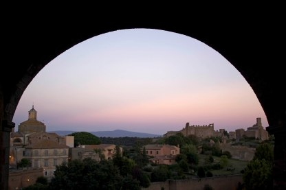 San Pietro sits on the horizon outside of Tuscania, Italy. (2013)
