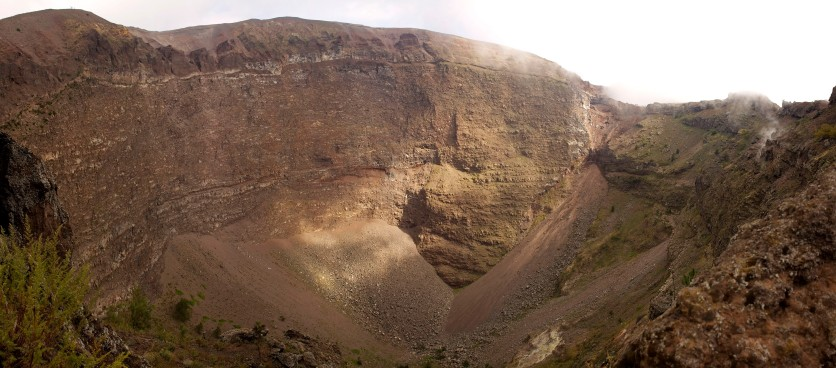 The crater of Mount Vesuvius. Italy. (2013)