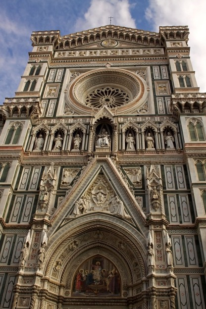 The main entrance to Santa Maria Del Fiore Basilica. Florence, Italy. (2013)