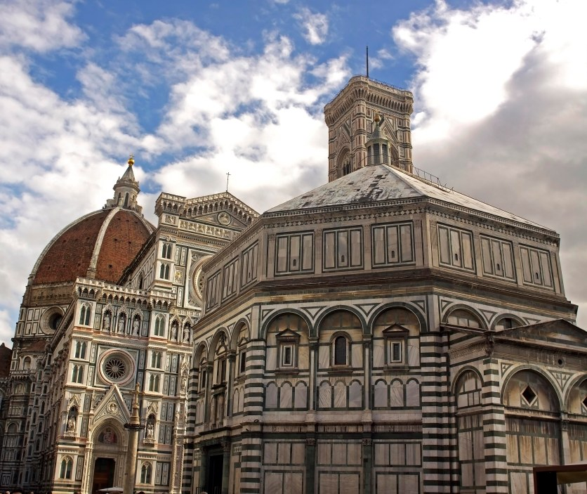 The Florence Baptistry and Duomo Santa Maria Del Fiore. Florence, Italy. (2013)