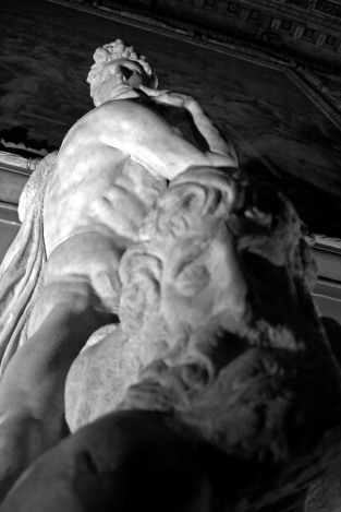 The Genius of Victory by Michelangelo in Palazzo Vecchio. Florence, Italy. (2013)