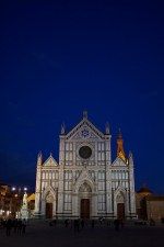 Basilica of Santa Croce, home of the tombs of Galileo and Michelangelo. Florence, Italy. (2013)