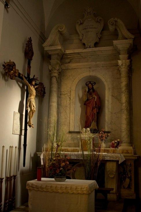 Interior of Chiesa San Lorenzo in Manarola, Cinque Terre, Italy. (2013)