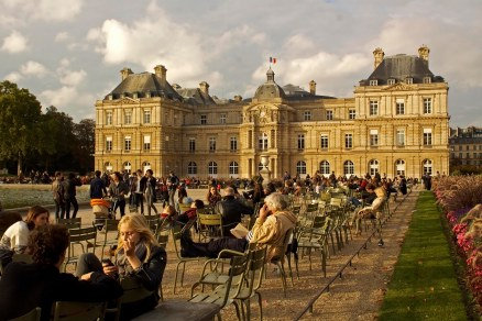 Jardins du Luxembourg is a popular communal area in Paris, France. (2013)