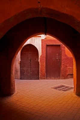An archway inside the medina. Marrakech, Morocco. (2013)