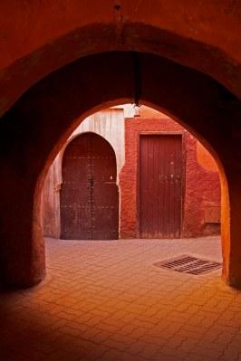 An archway inside the medina. Marrakech, Morocco. (2013)