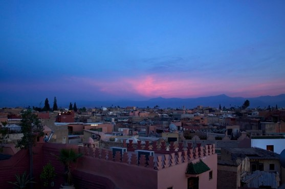 Marrakech, Morocco at sunset. (2013)