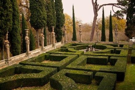 The garden maze of Villa Farnese. Caprarola, Italy. (2013)