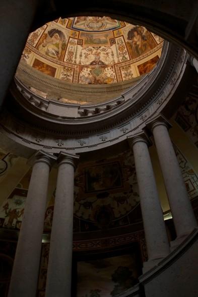 The spiral staircase within Villa Farnese. Caprarola, Italy. (2013)