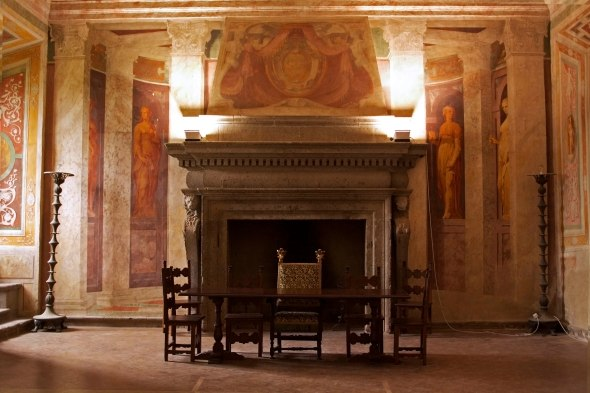 A room within Villa Farnese. Five floors of the pentagon palace result in a seemingly endless collection of rooms. Caprarola, Italy. (2013)