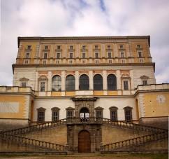 The front entrance of Villa Farnese. Caprarola, Italy. (2013)