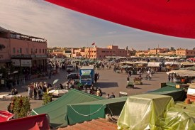 Jemaa el-Fnaa square in the center of the medina. Marrakech, Morocco. (2013)