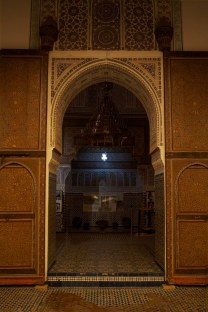 A view into one of the many rooms inside the University of al-Karaouine, Marrakech, Morocco. (2013)