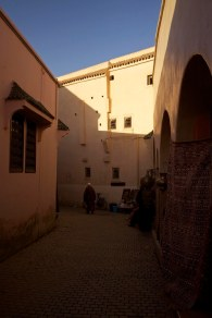 The streets inside the medina walls create a beautiful maze of passageways. Marrakech, Morocco. (2013)
