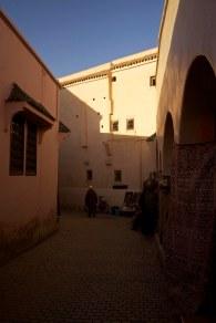 The streets inside the medina walls create a beautiful maze of passageways. Marrakech, Morocco. (2013)