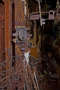 A shop front in the Souk El Haddadine. This area is known as the Blacksmith Market of Morocco, Marrakech. (2013)