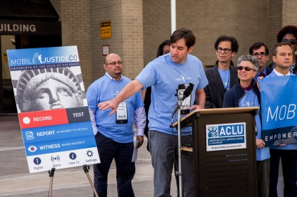 John Kreiger of ACLU Colorado speaks about their new mobile justice app which was released today. ACLU of Colorado is the eighth state to have this smartphone app.