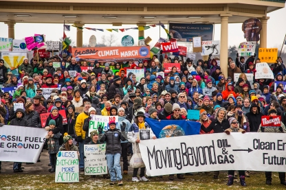 Nearly 500 environmental activists rallied in Denver's City Park on the eve of the COP21 global climate change rally. It was one of the largest events in the country.